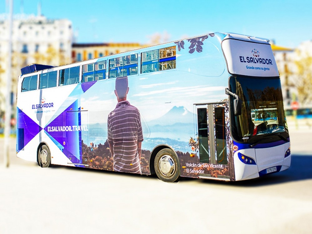 convertible passenger bus