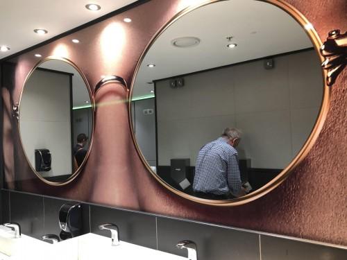 espejos wc públicos